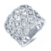 1.64ct 14k White Gold Diamond Lady's Ring