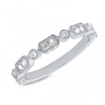 0.56ct 14k White Gold Diamond Lady's Ring