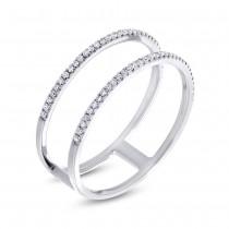 0.17ct 14k White Gold Diamond Lady's Ring Size 12.5