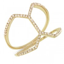 0.29ct 14k Yellow Gold Diamond Lady's Ring