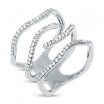 0.45ct 14k White Gold Diamond Lady's Ring Size 8