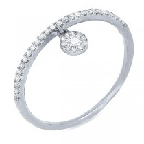 0.16ct 14k White Gold Diamond Lady's Ring