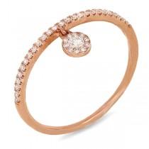 0.16ct 14k Rose Gold Diamond Lady's Ring