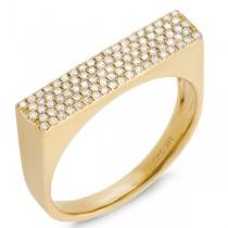 0.30ct 14k Yellow Gold Diamond Pave Lady's Ring