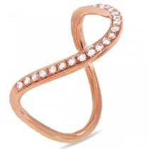 0.21ct 14k Rose Gold Diamond Lady's Ring