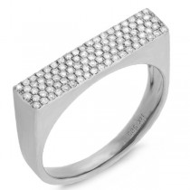 0.30ct 14k White Gold Diamond Pave Lady's Ring