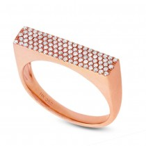 0.30ct 14k Rose Gold Diamond Pave Lady's Ring Size 6