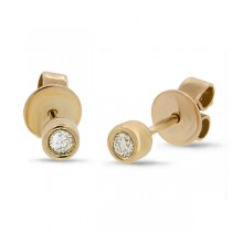 0.07ct 14k Yellow Gold Diamond Stud Earrings