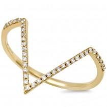 0.11ct 14k Yellow Gold Diamond Lady's Ring Size 5