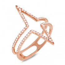 0.26ct 14k Rose Gold Diamond Lady's Ring