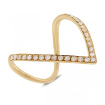 0.28ct 14k Yellow Gold Diamond Lady's Ring