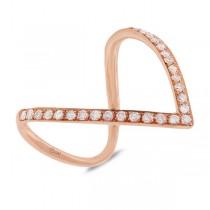 0.28ct 14k Rose Gold Diamond Lady's Ring