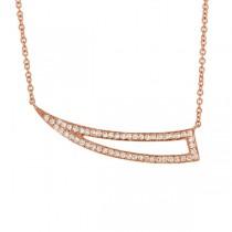0.26ct 14k Rose Gold Diamond Necklace