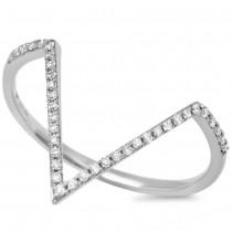 0.11ct 14k White Gold Diamond Lady's Ring Size 5