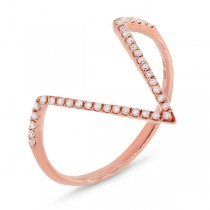 0.11ct 14k Rose Gold Diamond Lady's Ring