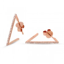 0.12ct 14k Rose Gold Diamond Earrings