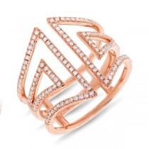 0.41ct 14k Rose Gold Diamond Lady's Ring
