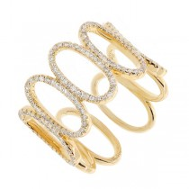 0.53ct 14k Yellow Gold Diamond Lady's Ring