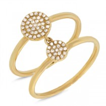 0.17ct 14k Yellow Gold Diamond Pave Lady's Ring