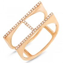 0.13ct 14k Yellow Gold Diamond Lady's Ring