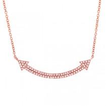 0.19ct 14k Rose Gold Diamond Pave Necklace