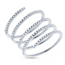0.36ct 14k White Gold Diamond Spiral Lady's Ring
