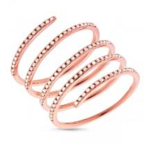 0.36ct 14k Rose Gold Diamond Spiral Lady's Ring
