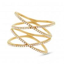 0.32ct 14k Yellow Gold Diamond Lady's Ring Size 8