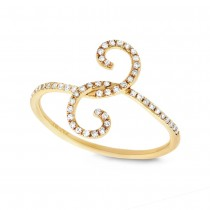 0.16ct 14k Yellow Gold Diamond Lady's Ring
