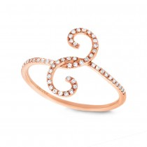 0.16ct 14k Rose Gold Diamond Lady's Ring