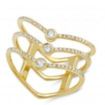 0.30ct 14k Yellow Gold Diamond Lady's Ring Size 7.5