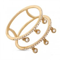 0.24ct 14k Yellow Gold Diamond Lady's Ring