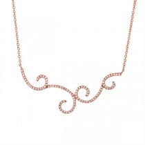 0.29ct 14k Rose Gold Diamond Necklace