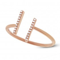 0.06ct 14k Rose Gold Diamond Lady's Ring