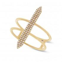 0.18ct 14k Yellow Gold Diamond Lady's Ring Size 6.5
