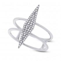 0.16ct 14k White Gold Diamond Lady's Ring Size