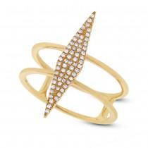 0.16ct 14k Yellow Gold Diamond Lady's Ring