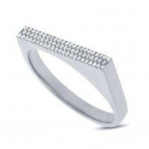0.15ct 14k White Gold Diamond Pave Lady's Ring