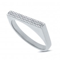 0.15ct 14k White Gold Diamond Pave Lady's Ring Size 5