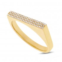 0.15ct 14k Yellow Gold Diamond Pave Lady's Ring Size 6