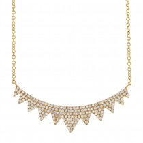 0.45ct 14k Yellow Gold Diamond Necklace