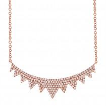 0.45ct 14k Rose Gold Diamond Necklace