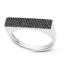 0.30ct 14k White Gold Black Diamond Pave Lady's Ring