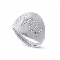 0.14ct 14k White Gold Diamond ''Love'' Ring