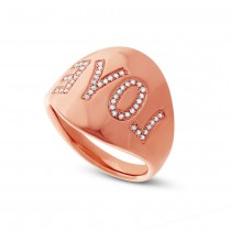 0.14ct 14k Rose Gold Diamond ''Love'' Ring