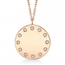 0.09ct 14k Rose Gold Diamond Pendant Necklace
