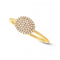0.17ct 14k Yellow Gold Diamond Pave Ring