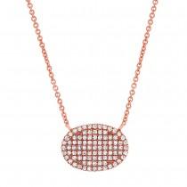 0.21ct 14k Rose Gold Diamond Pave Necklace