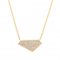 0.28ct 14k Yellow Gold Diamond Pave Necklace