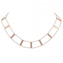0.71ct 14k Rose Gold Diamond Ladder Necklace